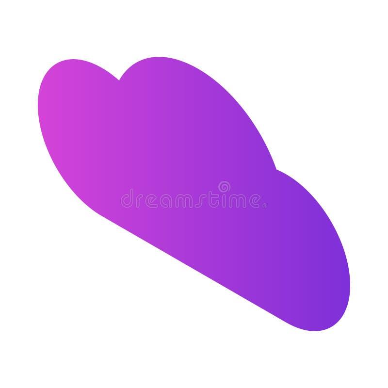 Purpury obłoczna ikona, isometric styl royalty ilustracja