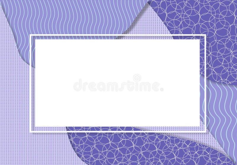 Purpury rama royalty ilustracja