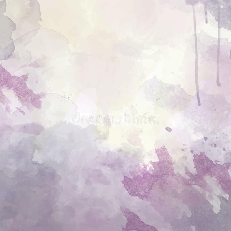 Purpury wręczają patroszonego akwareli tło royalty ilustracja