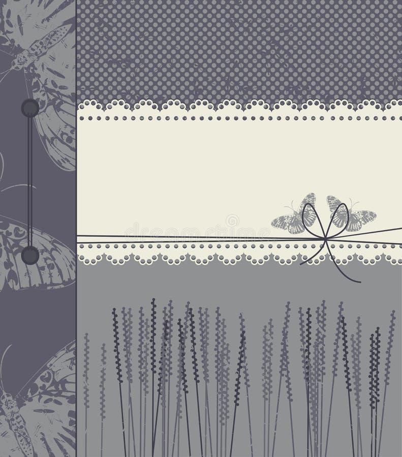 Purpury zakrywają z kopii przestrzenią dla teksta ilustracja wektor