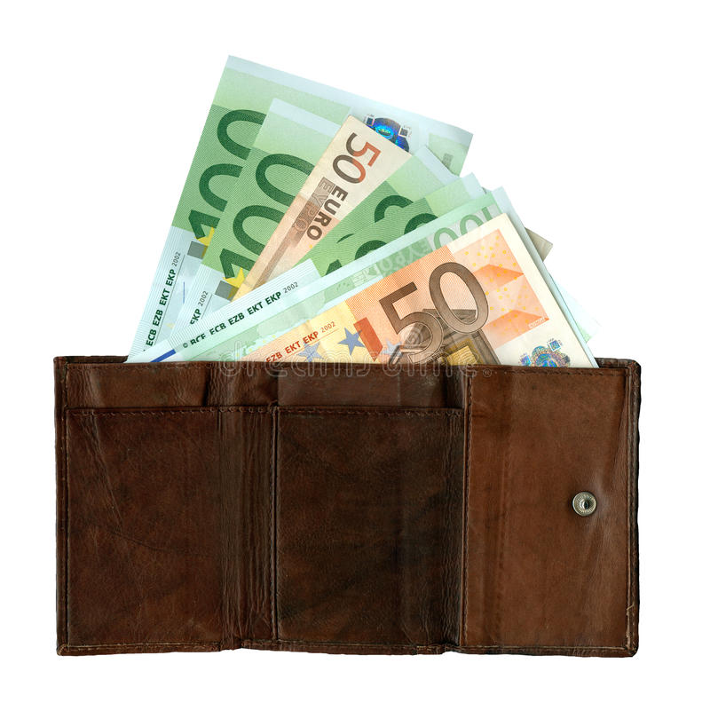 Purse with banknotes