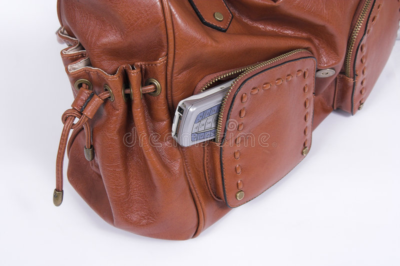 Download Purse and cell stock image. Image of brown, cell, essential - 2505073
