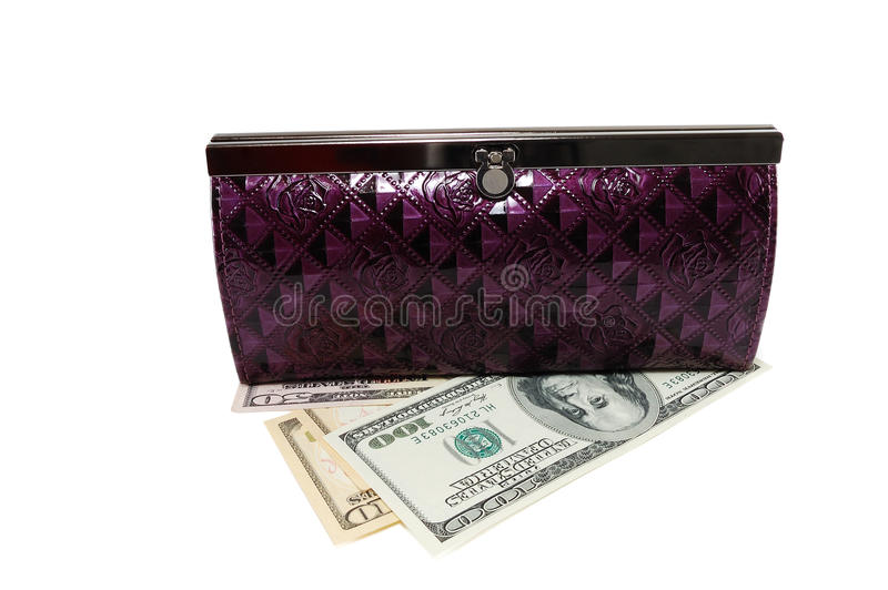 Download Purse with dollars stock photo. Image of purchase, number - 16990802