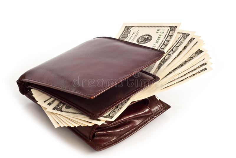 Purse With Dollars Royalty Free Stock Photo