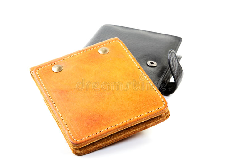 Purse and leather organizer  on  white background