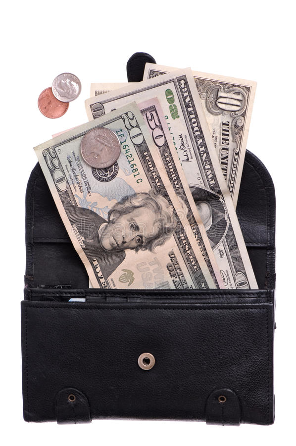 Download Purse with money stock image. Image of fifty, dollar - 11910273