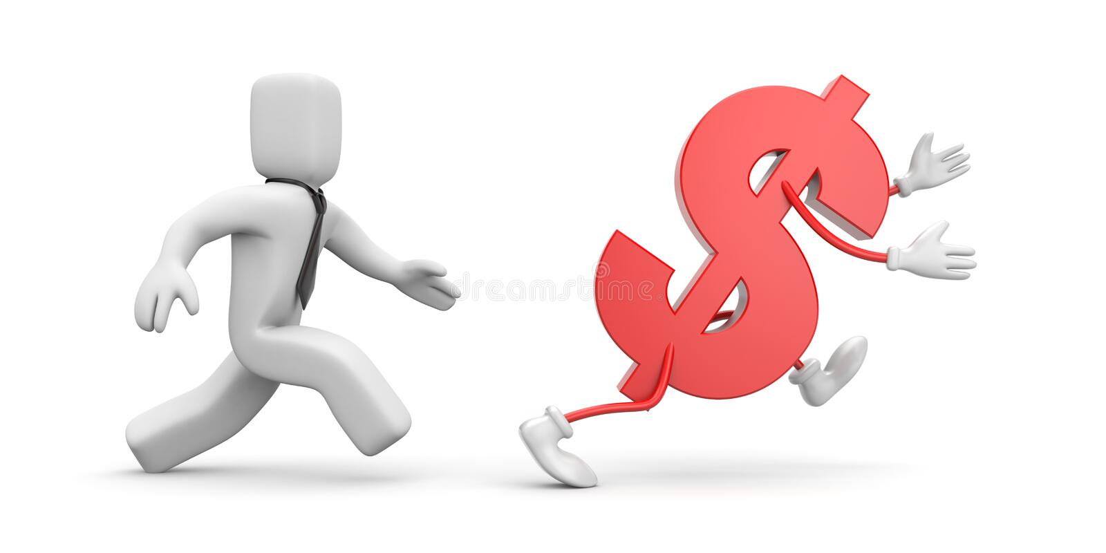 Download In a pursuit of profit stock illustration. Image of business - 20139021