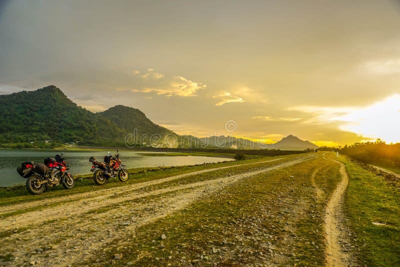Purwakarta, West JavPurwakarta, West Java, Indonesia (03/30/2018) : The rider is touring with his royalty free stock photo