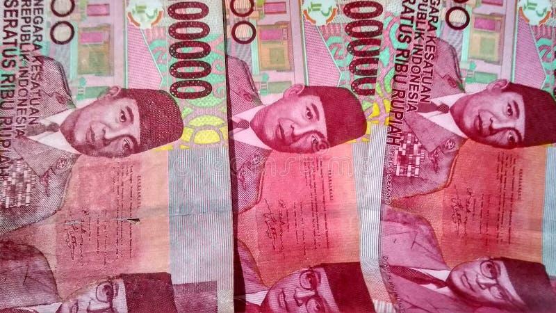 Purworejo-Indonesien, am 12. Juli 2019: indonesische Währung lizenzfreie stockfotografie