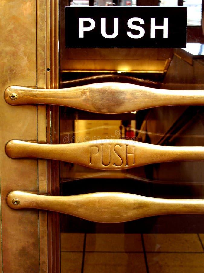 Download Push brass door handle stock image. Image of doorway, stairs - 2029249