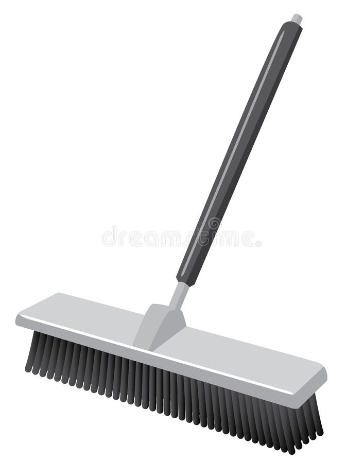 Download Push Broom Such As In A Warehouse Stock Illustration - Illustration: 23719215