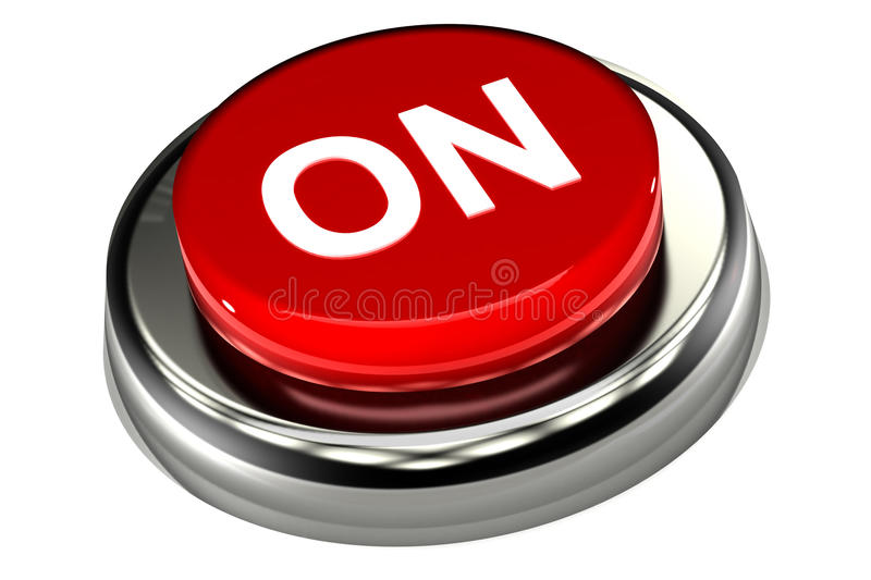 On Push Button Royalty Free Stock Images