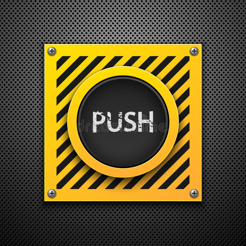 Download Push button. stock vector. Image of activation, background - 19574099