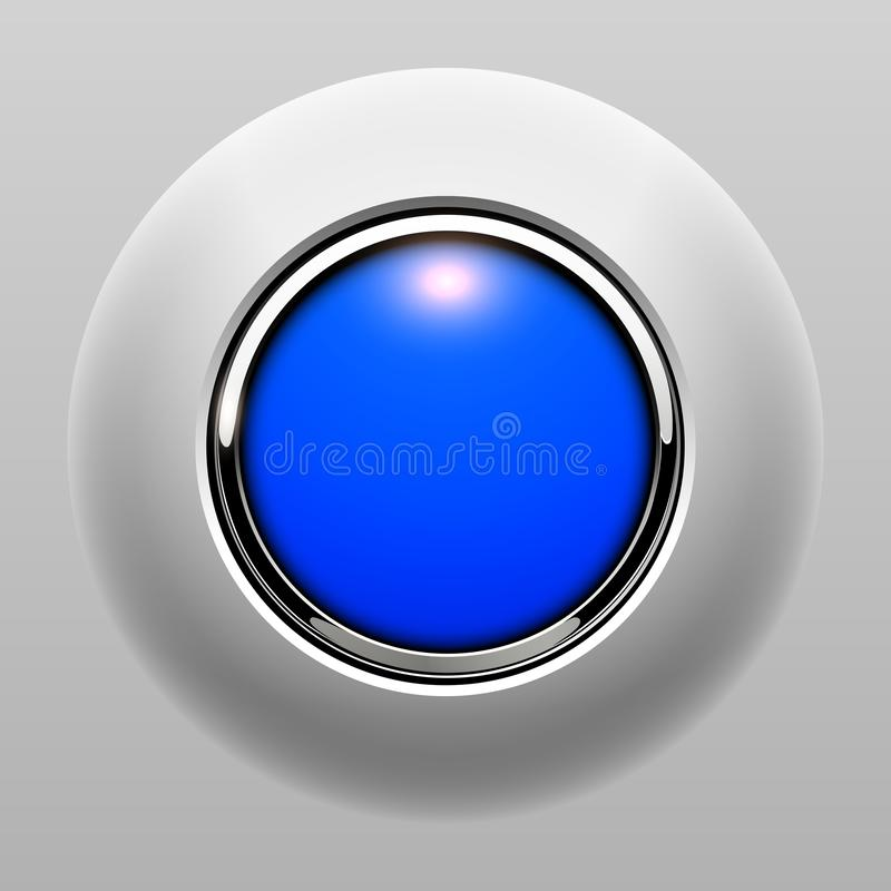 Push button blue vector illustration