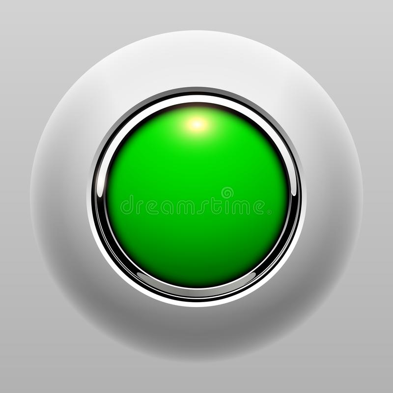Push button green stock illustration