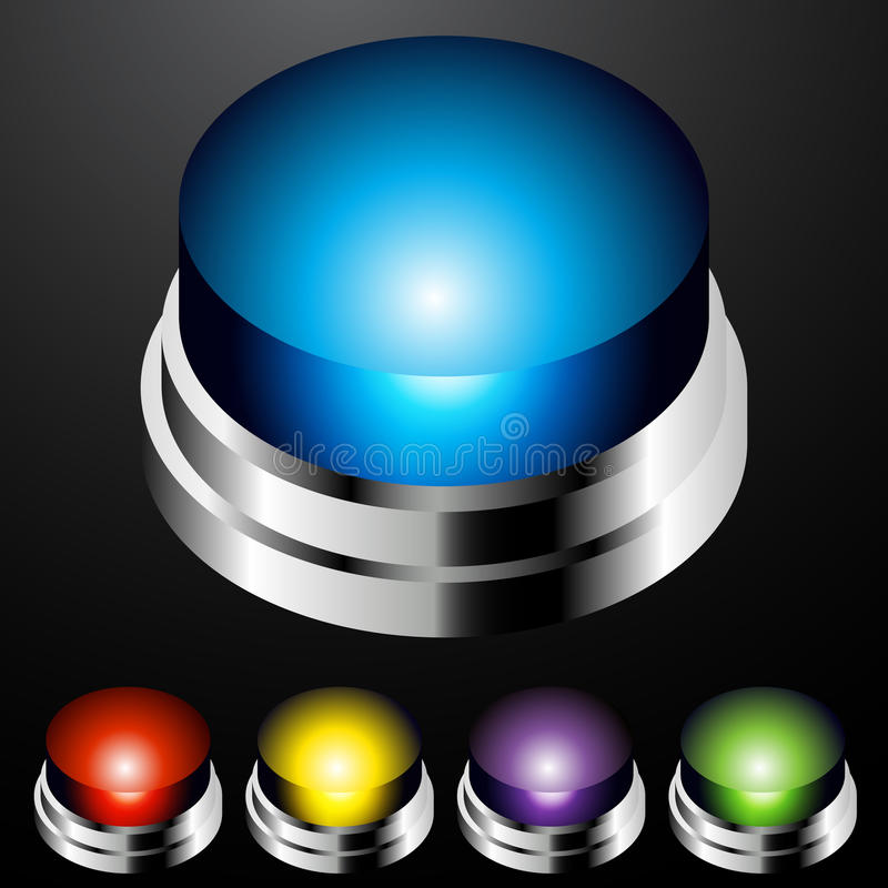 Push Button Light Set stock illustration