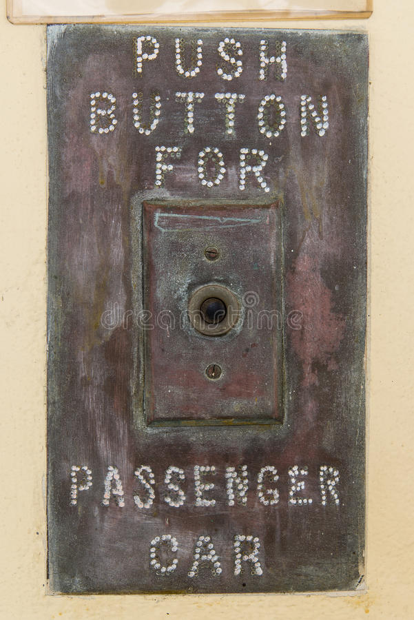 Push button for passenger car stock images