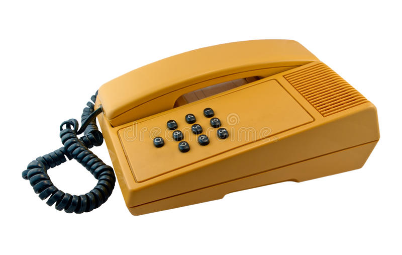 Push-button stary telefon obraz stock