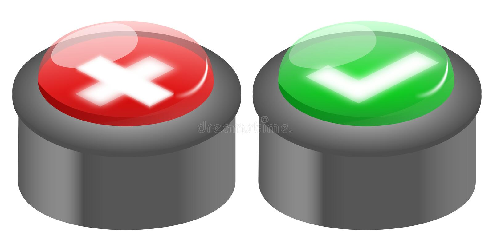 Download Push buttons stock illustration. Image of option, green - 21929559