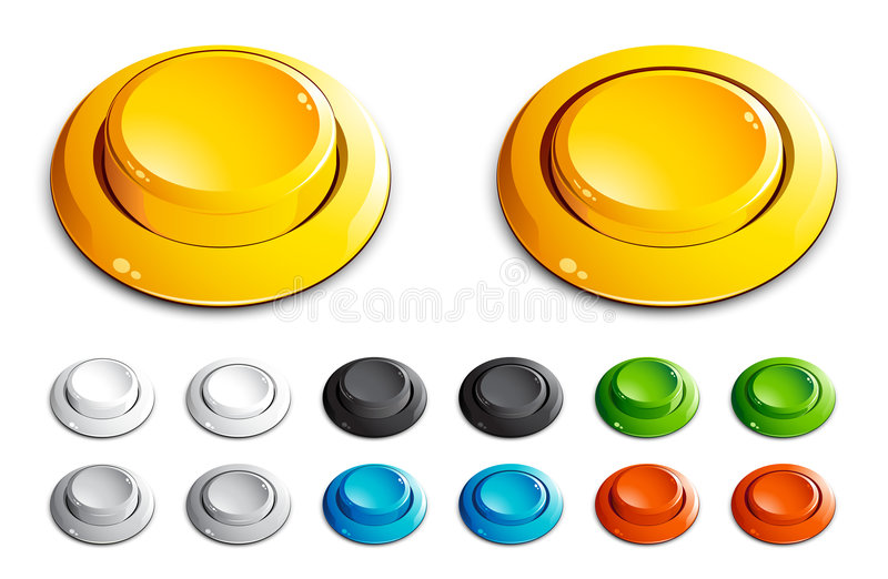 Download Push buttons stock vector. Illustration of digital, glass - 7321408