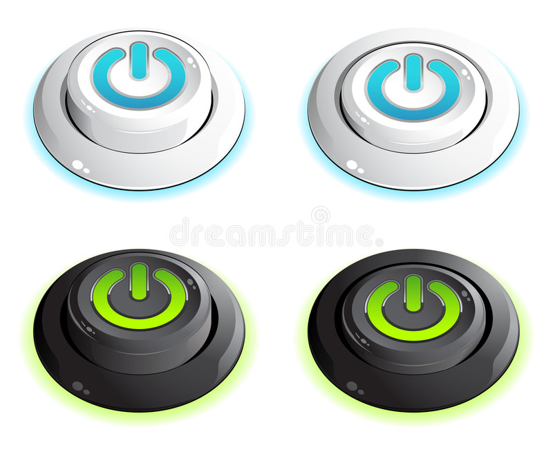 Download Push buttons stock vector. Illustration of glass, image - 7376087
