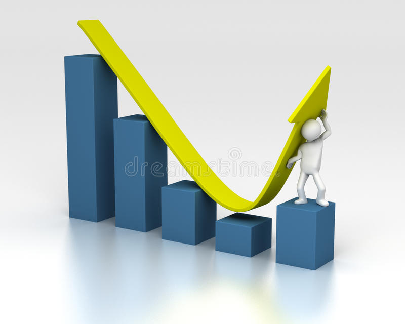 Download Push Chart Upwards Despite Of Downturn Royalty Free Stock Photo - Image: 12596575