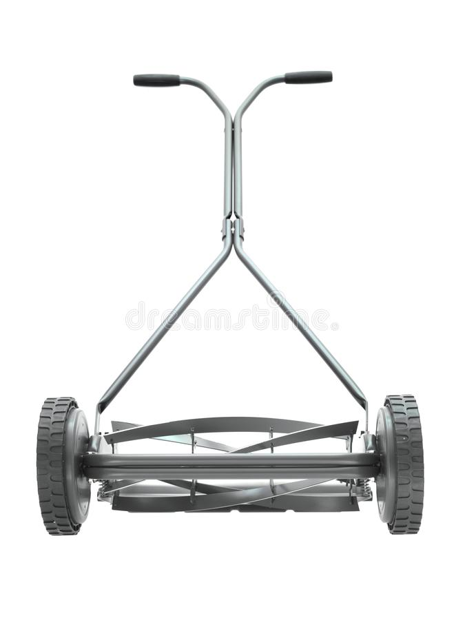 Push Mower. A push mower isolated against a white background royalty free stock photography