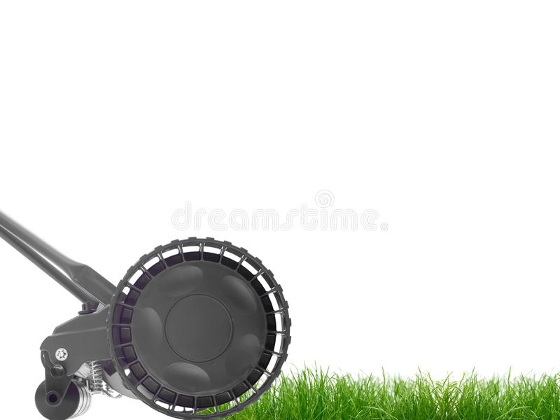 Push Mower. A push mower isolated against a white background stock images