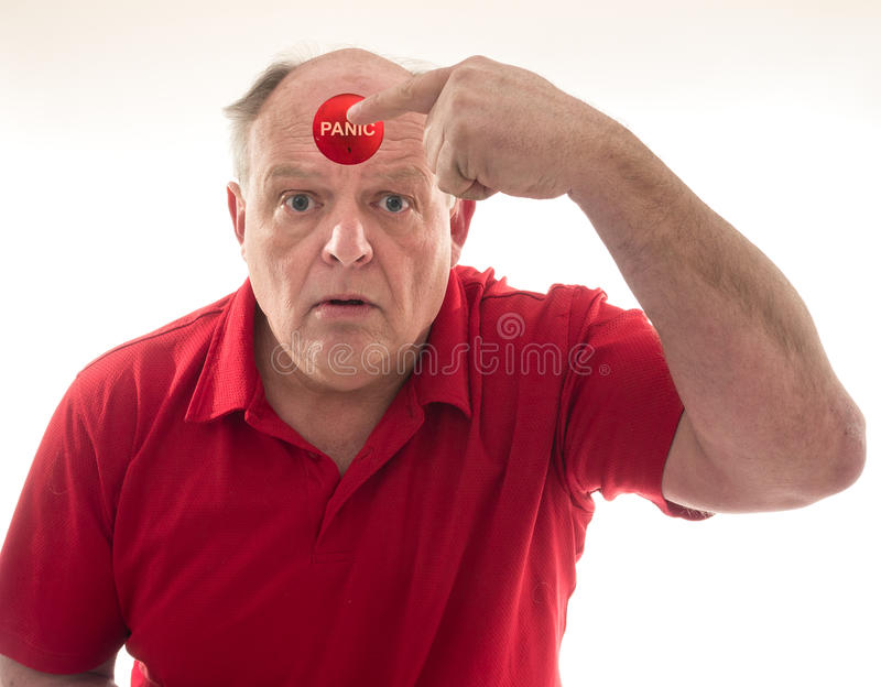 Push the Panic Button royalty free stock image