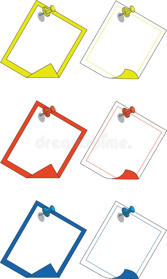 Download Push pin 03 stock vector. Image of blank, document, metal - 9497326