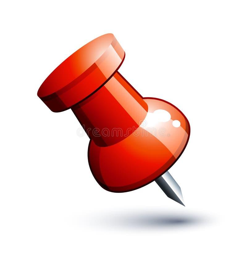 Download Push pin stock vector. Illustration of thumbtack, metal - 9160162