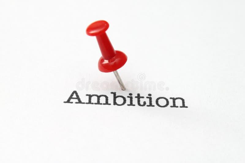 Push pin on ambition. Close up of Push pin on ambition stock photography