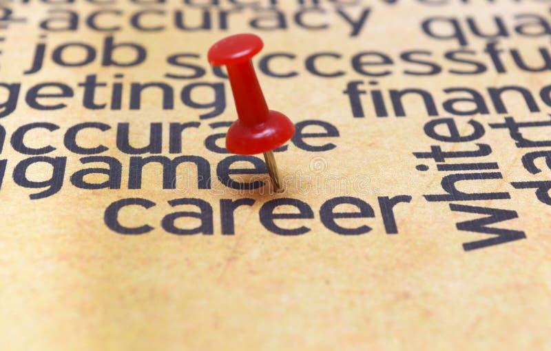Push pin on career. Close up of Push pin on career royalty free stock photo