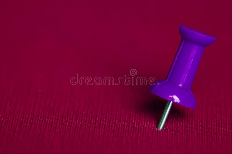Push pin closeup royalty free stock photography