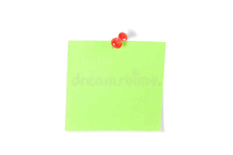 Download Push-pinned Post-It Note stock image. Image of backgrounds - 3123185