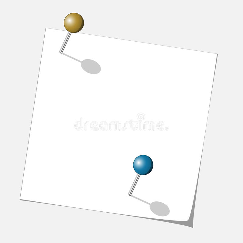 Download Push pins stock vector. Image of office, bulletin, attachment - 24645678