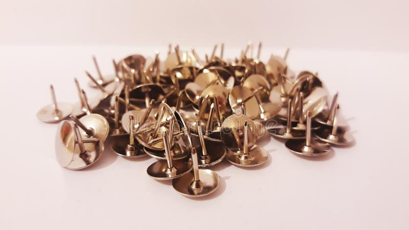 Push pins. Picture of push pins stock photo