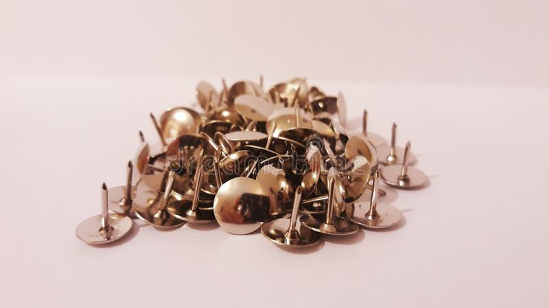 Push pins. Picture of push pins stock photography