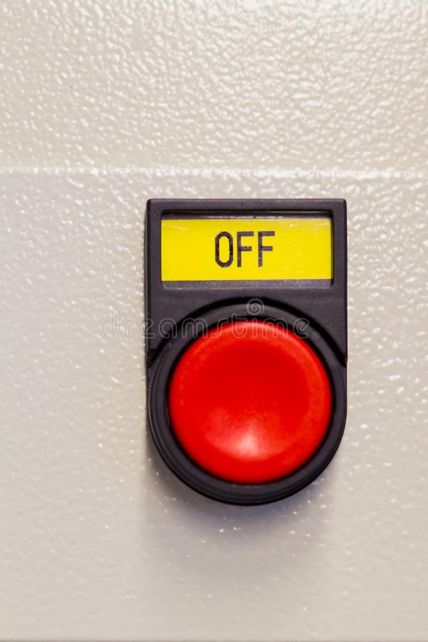 Push red button off on device.  stock photography