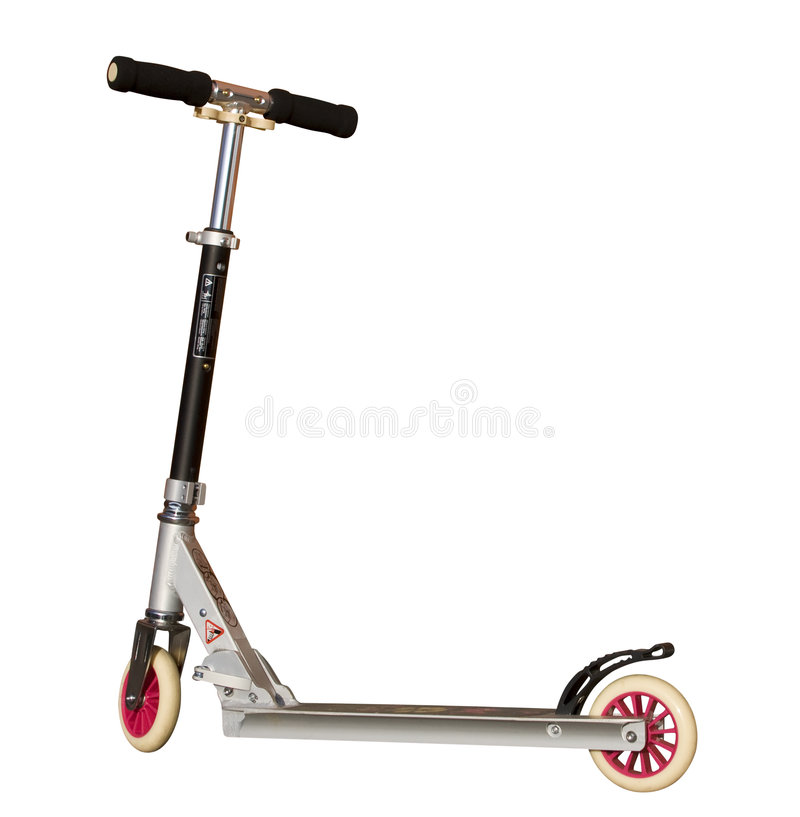 Push Scooter - white background. Push-scooter in side-view. Clipping path included royalty free stock images