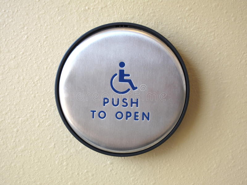 Push to open button royalty free stock images