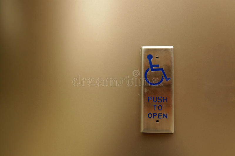Push To Open Button Royalty Free Stock Photo Image 33017255