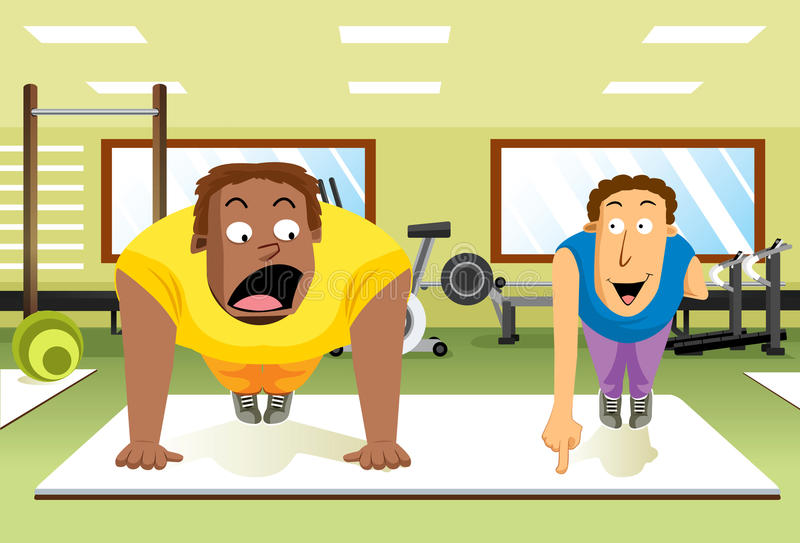 Push-Up Expert Stock Images