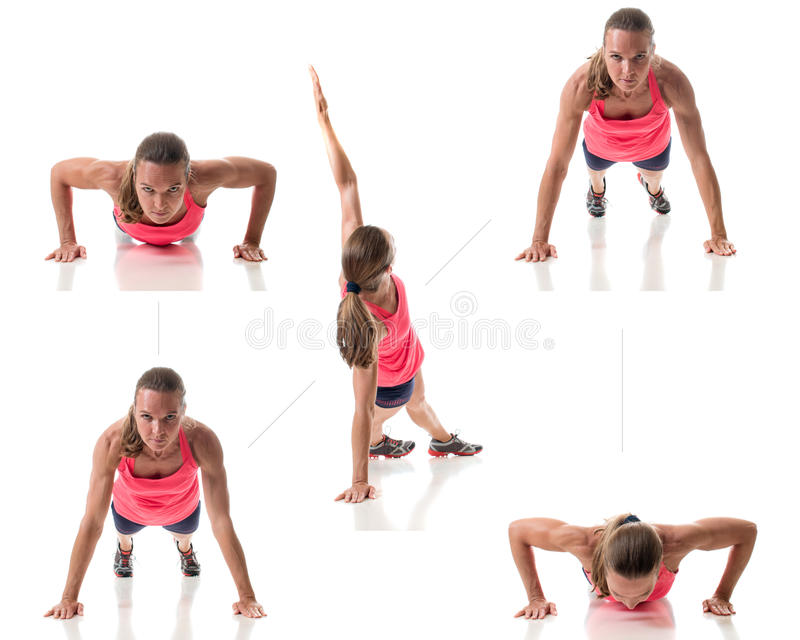Push Up Variation royalty free stock photos