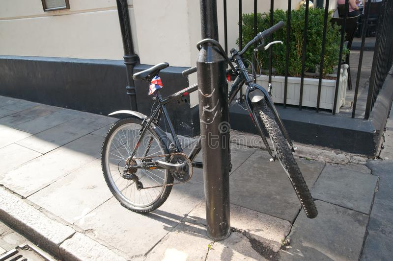 A pushbike in the city royalty free stock image