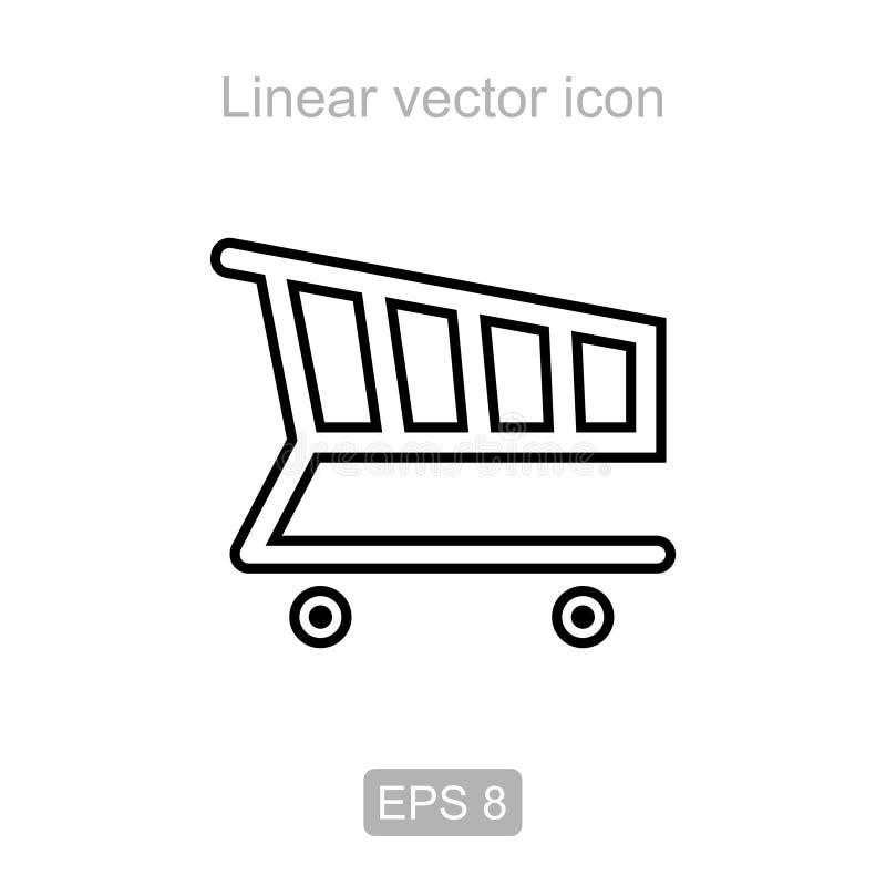 pushcart Icono linear ilustración del vector