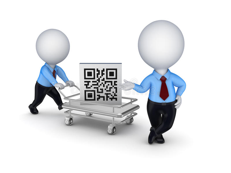 Download Pushcart With QR Code. Stock Images - Image: 29777094