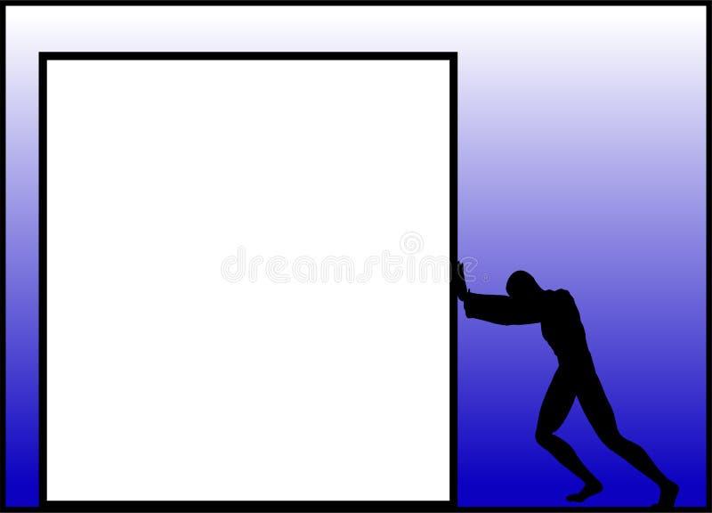 Download Pushing 2 stock illustration. Image of bulletin, custom - 635069
