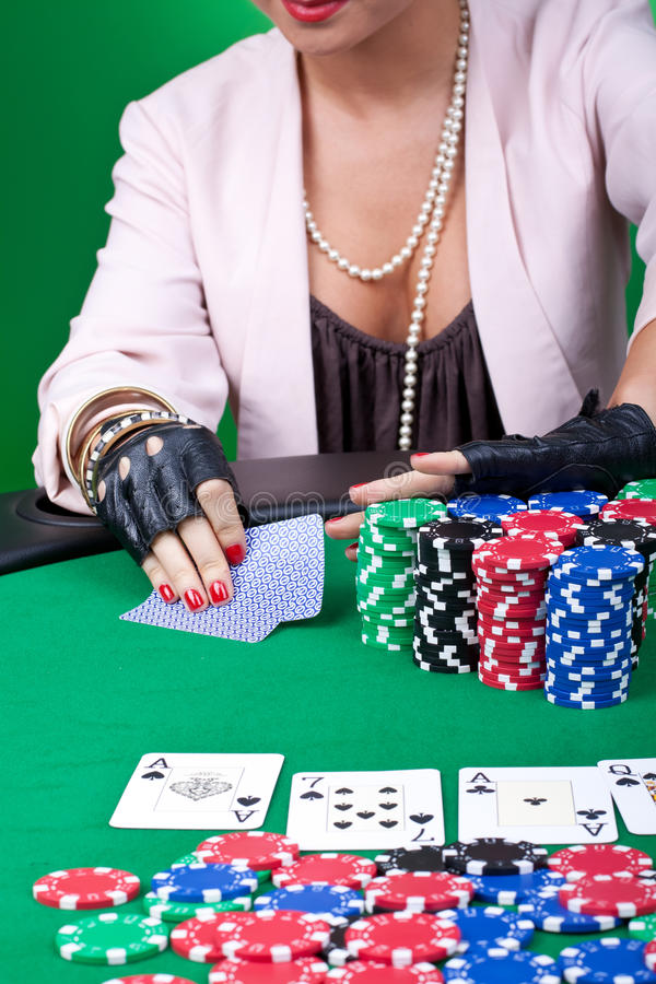 Download Pushing all in stock photo. Image of casino, white, closeup - 18814378