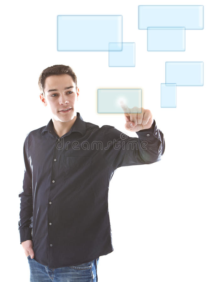 Download Pushing A Button In A Digital World Royalty Free Stock Images - Image: 17315799